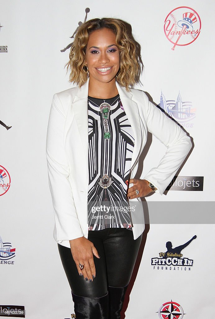 Amber Sabathia bowls attends the PitCCh In Foundation 2013 Challenge Rules Party at Luxe at Lucky Strike Lanes on November 8, 2013 in New York City.