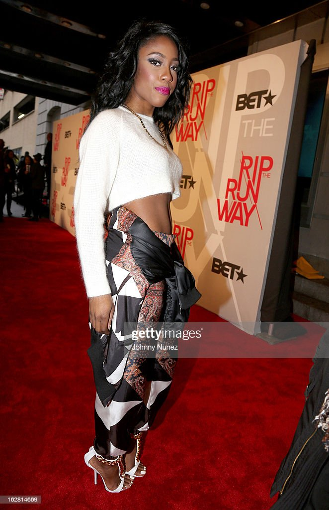 Amber 'Sevyn' Streeter attends BET's Rip The Runway 2013 at Hammerstein Ballroom, on February 27, 2013, in New York City.