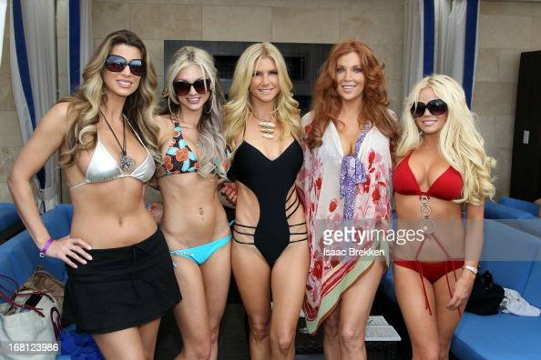 Amber Smith Amie Rose Brande Roderick and Colleen Shannon attend the grand opening of the Sapphire Pool Day Club on May 5 2013 in Las Vegas Nevada