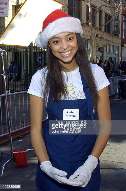 Amber Stevens during 2004 Christmas Eve Meal for The Homeless Hosted by Jennifer Love Hewitt at LA Mission in Los Angeles California United States