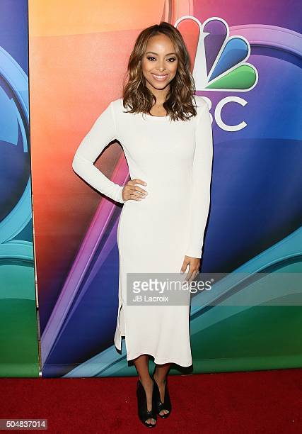 Amber Stevens West attends the Winter TCA Tour NBCUniversal Press Tour at the Langham Huntington Hotel on January 13 2016 in Pasadena California