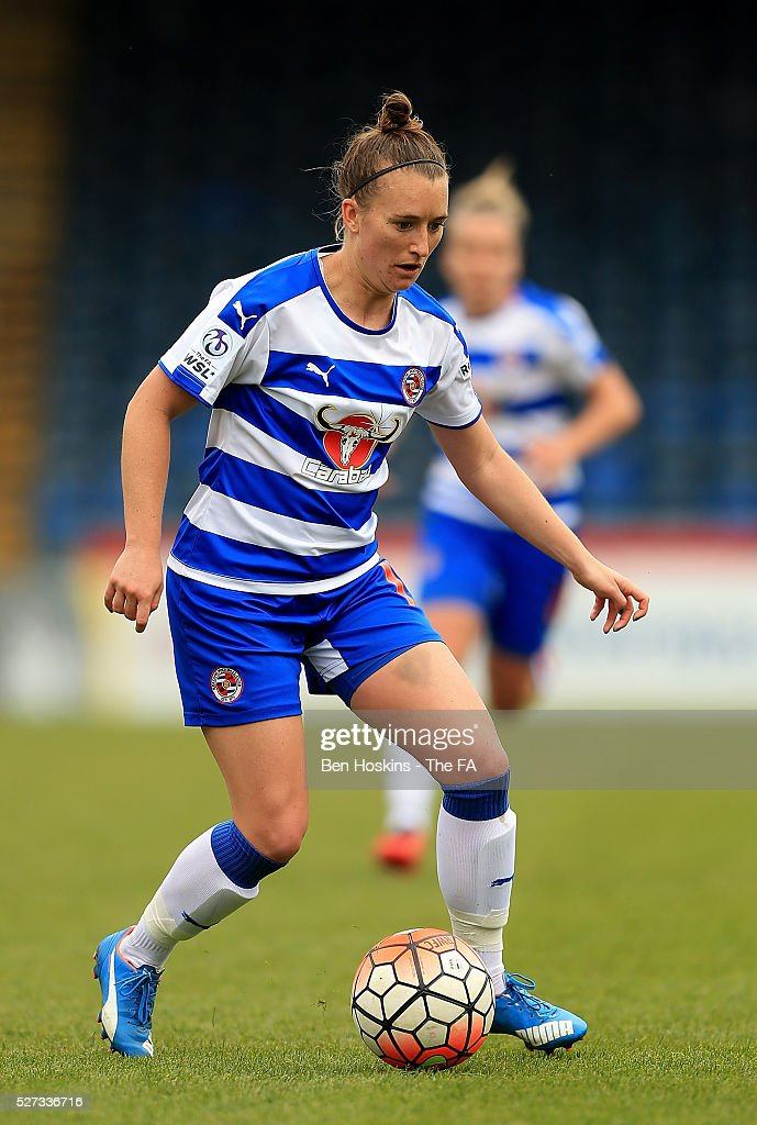 Amber Stobbs of Reading in action during the WSL 1 match between Reading FC Women and Sunderland AFC Ladies on May 2, 2016 in High Wycombe, England.