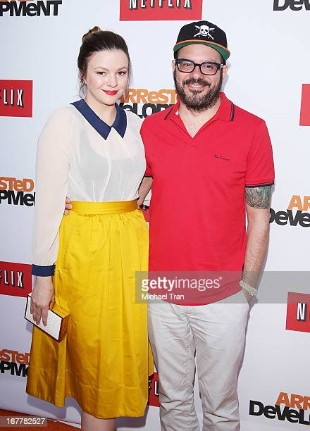 Amber Tamblyn and David Cross arrive at Netflix's Los Angeles premiere of 'Arrested Development' season 4 held at TCL Chinese Theatre on April 29...