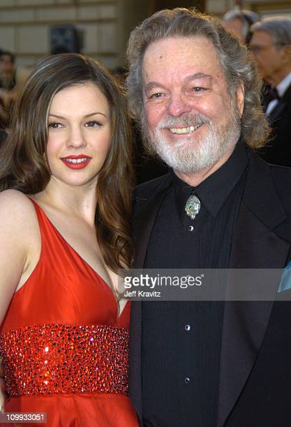 Amber Tamblyn and her father Russ Tamblyn during The 30th Annual People's Choice Awards Arrivals at Pasadena Civic Auditorium in Pasadena California...