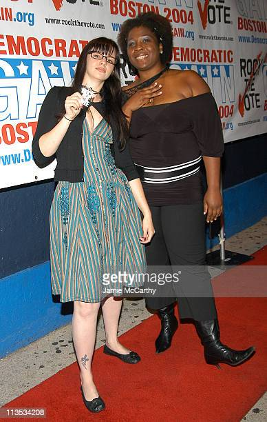 Amber Tamblyn and Jehmu Greene president of 'Rock the Vote'