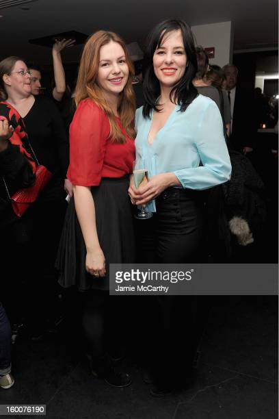 Amber Tamblyn and Parker Posey attend the Cinema Society Artistry screening of 'Warm Bodies' after party at the Hotel on Rivington on January 25 2013...