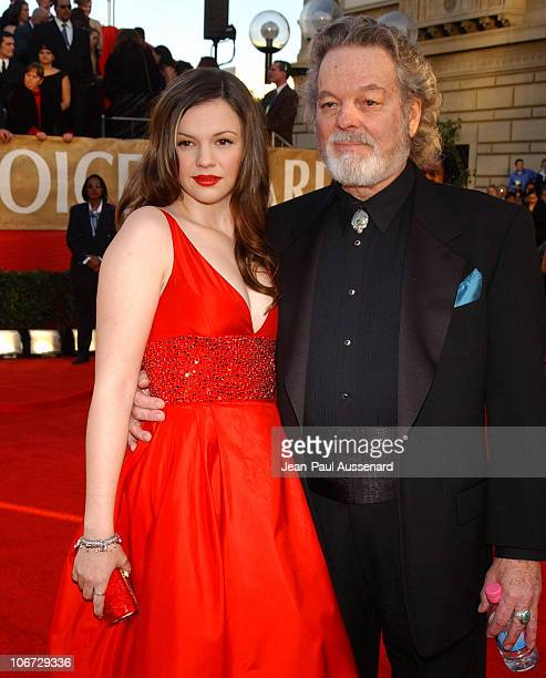 Amber Tamblyn and Russ Tamblyn during The 30th Annual People's Choice Awards Arrivals at Pasadena Civic Auditorium in Pasadena California United...