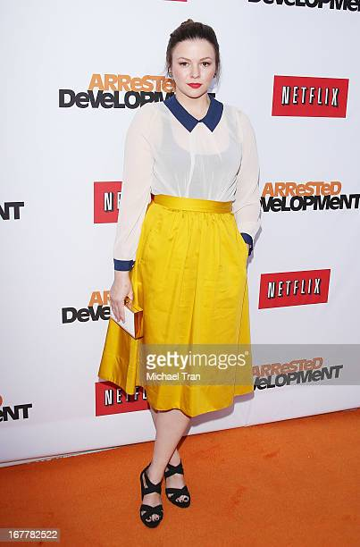 Amber Tamblyn arrives at Netflix's Los Angeles premiere of 'Arrested Development' season 4 held at TCL Chinese Theatre on April 29 2013 in Hollywood...