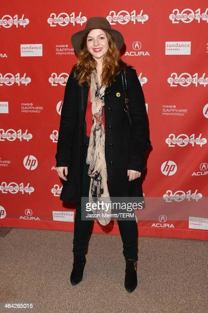 Amber Tamblyn attends the premiere of the 'Hits' at Eccles Center Theatre during the 2014 Sundance Film Festival on January 21 2014 in Park City Utah