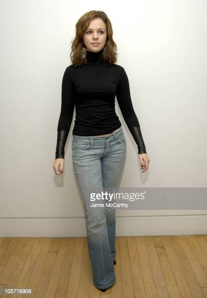 Amber Tamblyn during Amber Tamblyn and Alexis Bledel Visit MTV's 'TRL' May 25 2005 at MTV Studios in New York City New York United States