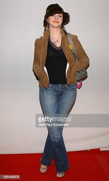 Amber Tamblyn during CBS and UPN 2005 TCA Party Arrivals at Quixote Studios in Los Angeles California United States