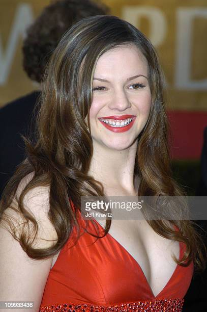 Amber Tamblyn during The 30th Annual People's Choice Awards Arrivals at Pasadena Civic Auditorium in Pasadena California United States