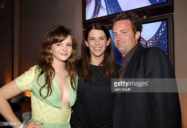 Amber Tamblyn Lauren Graham and Matthew Perry during Entertainment Weekly Magazine 4th Annual PreEmmy Party Inside at Republic in Los Angeles...