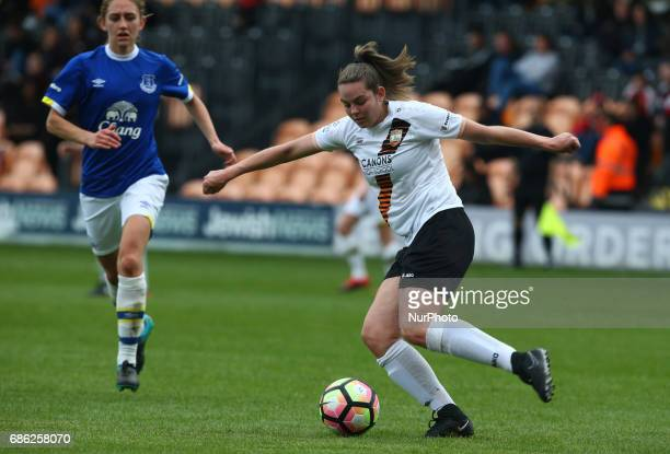 Amber Tullet of London Bees during Women's Super League 2 Spring Series match between London Bees against Everton Ladies at The Hive Barnet FC on 20...