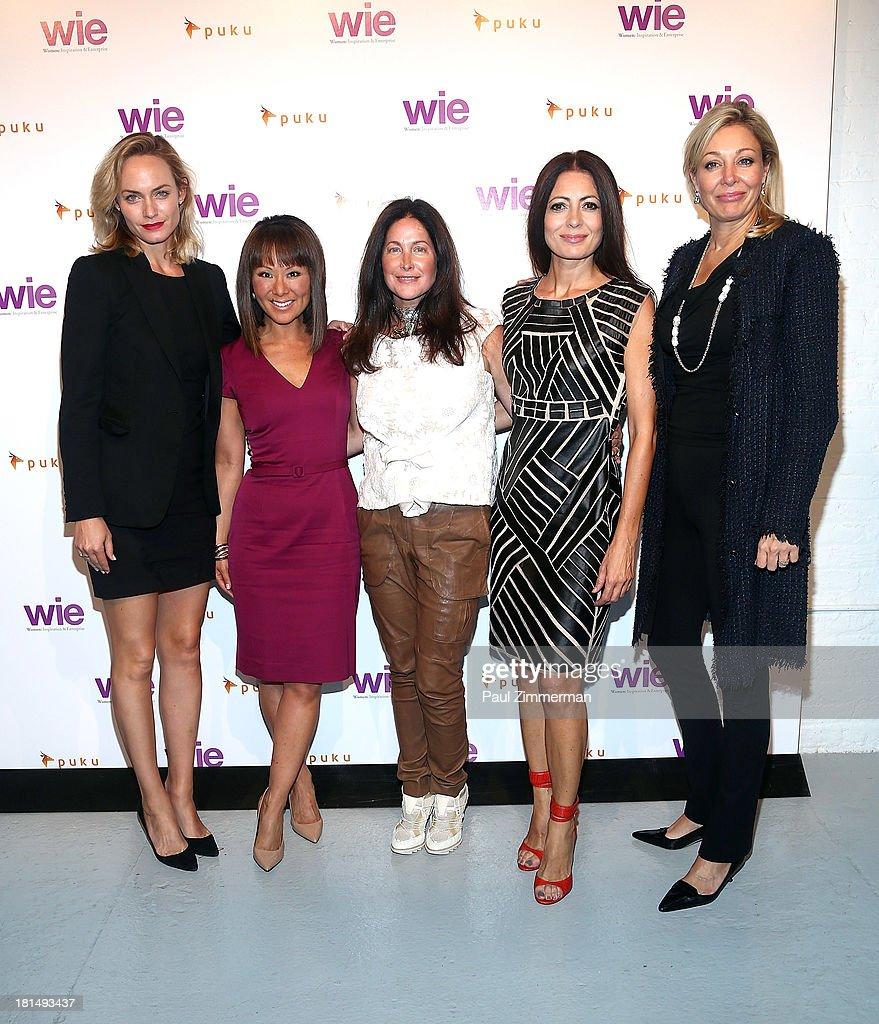 Amber Valetta, Alina Cho, Melissa Goidal, Catherine Malandrino and Nadja Swarovski attend the 4th Annual WIE Symposium at Center 548 on September 21, 2013 in New York City.
