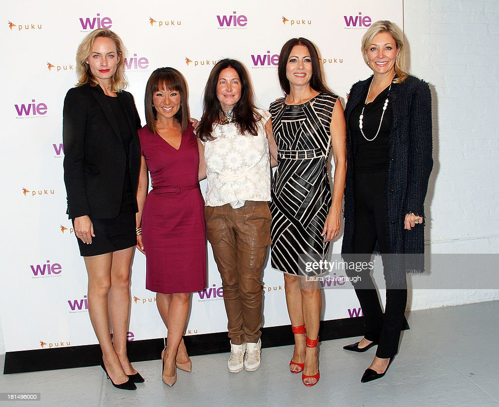 Amber Valetta, Alina Cho, Melissa Goidal, Catherine Malandrino and Nadja Swarovski attend day 2 of the 4th Annual WIE Symposium at Center 548 on September 21, 2013 in New York City.
