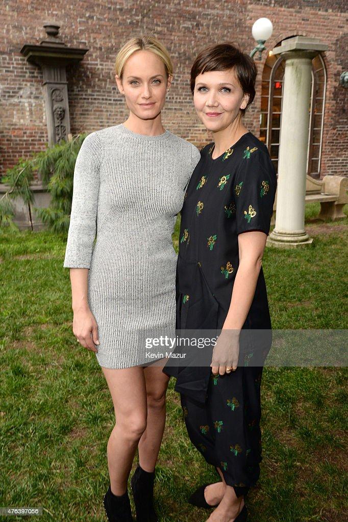 Amber Valetta and Maggie Gyllenhaal attend the Stella McCartney Spring 2016 Resort Presentation on June 8, 2015 in New York City.
