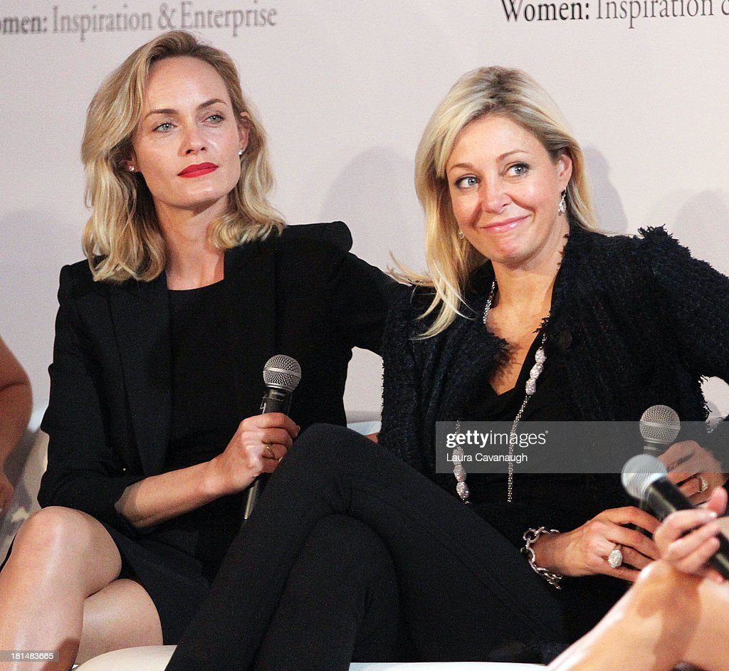 Amber Valetta and Nadja Swarovski attend day 2 of the 4th Annual WIE Symposium at Center 548 on September 21, 2013 in New York City.