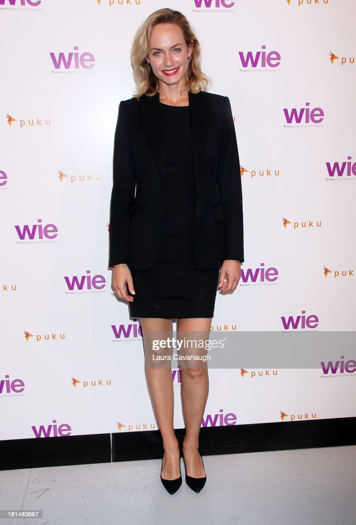 Amber Valetta attends day 2 of the 4th Annual WIE Symposium at Center 548 on September 21, 2013 in New York City.