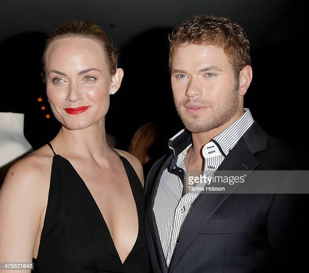 Amber Valletta and Kellan Lutz attend the 5th anniversary of Suzy's global sustainable design campaign party at Palihouse Holloway on February 27...