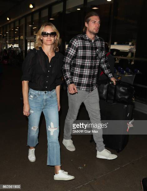 Amber Valletta and Teddy Charles are seen on October 17 2017 in Los Angeles California