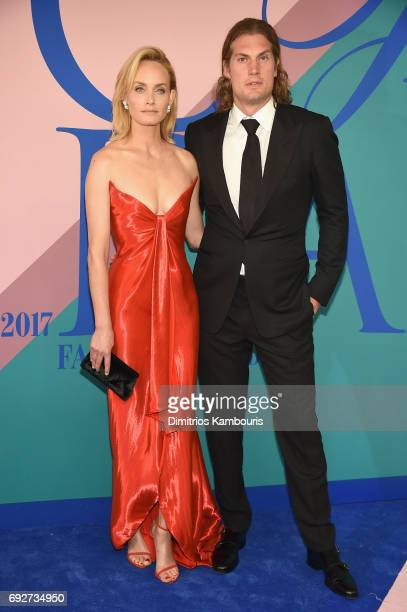Amber Valletta and Teddy Charles attend the 2017 CFDA Fashion Awards at Hammerstein Ballroom on June 5 2017 in New York City