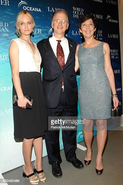 Amber Valletta Andrew Sharpless and Maureen Case attend LA MER and OCEANA Party for WORLD OCEAN DAY 2008 at 620 Loft Garden on June 4 2008 in New...