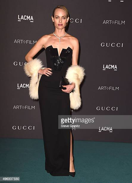 Amber Valletta arrive at the LACMA 2015 ArtFilm Gala Honoring James Turrell And Alejandro G Inarritu Presented By Gucci at LACMA on November 7 2015...