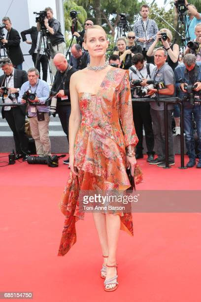 Amber Valletta attend the 'Wonderstruck ' screening during the 70th annual Cannes Film Festival at Palais des Festivals on May 18 2017 in Cannes...