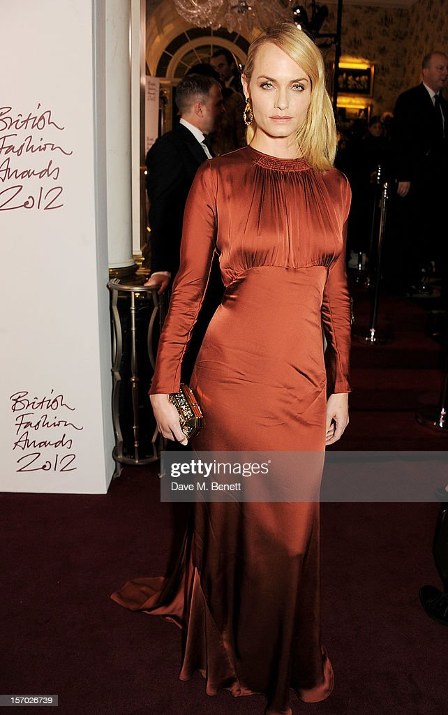 Amber Valletta attends a drinks reception at the British Fashion Awards 2012 at The Savoy Hotel on November 27, 2012 in London, England.