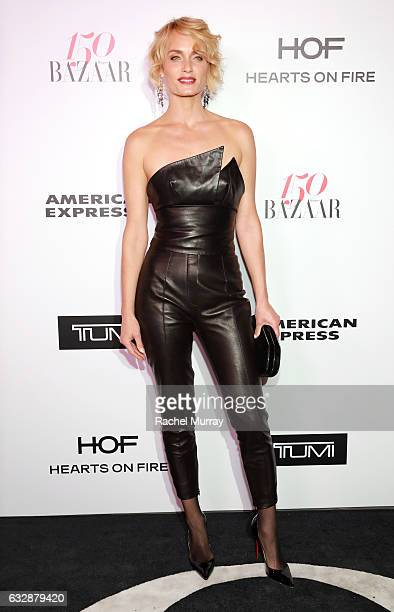 Amber Valletta attends Harper's BAZAAR celebration of the 150 Most Fashionable Women presented by TUMI in partnership with American Express La Perla...