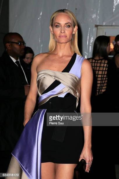 Amber Valletta attends the 19th annual amfAR's New York Gala to kick off NY Fashion Week at Cipriani Wall Street on February 8 2017 in New York City