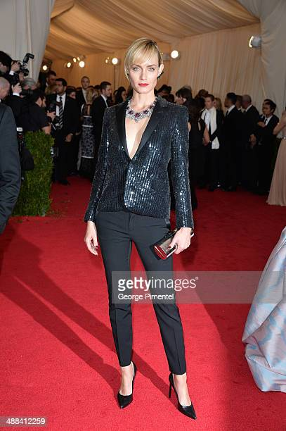 Amber Valletta attends the 'Charles James Beyond Fashion' Costume Institute Gala at the Metropolitan Museum of Art on May 5 2014 in New York City