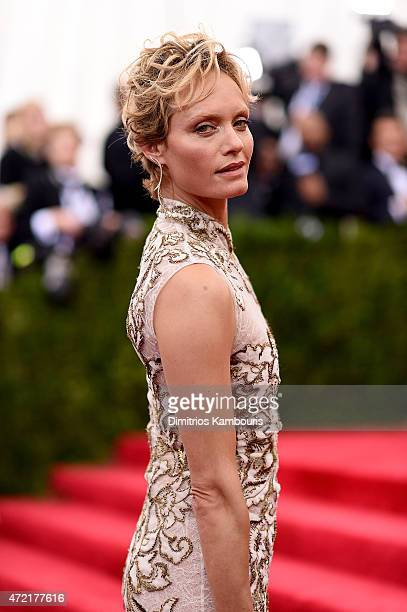 Amber Valletta attends the 'China Through The Looking Glass' Costume Institute Benefit Gala at the Metropolitan Museum of Art on May 4 2015 in New...