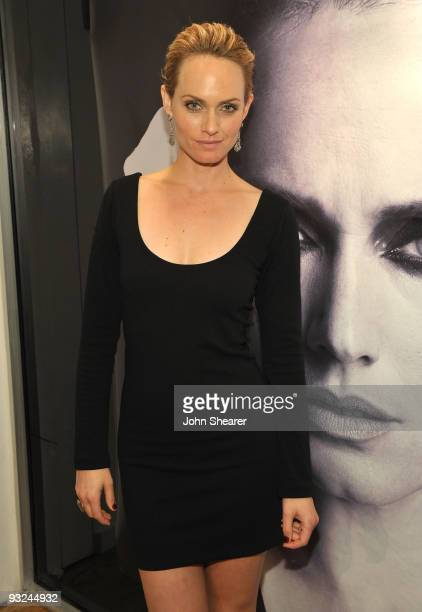 Amber Valletta attends the launch of Amber Valletta for Monrow at Ron Herman Melrose on November 19 2009 in Los Angeles California