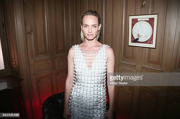 Amber Valletta attends The Miu Miu Club And Croisiere 2017 Collection Presentation at Hotel De La Paiva on July 3 2016 in Paris France