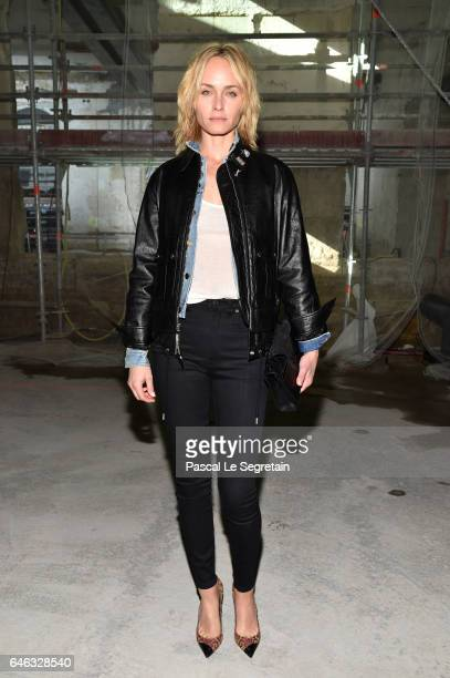 Amber Valletta attends the Saint Laurent show as part of the Paris Fashion Week Womenswear Fall/Winter 2017/2018 on February 28 2017 in Paris France