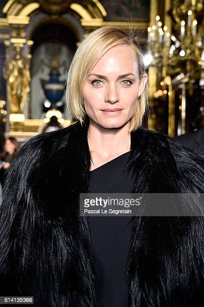 Amber Valletta attends the Stella McCartney show as part of the Paris Fashion Week Womenswear Fall/Winter 2016/2017 on March 7 2016 in Paris France