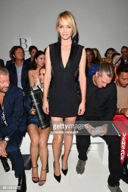 Amber Valletta attends the Versace show during Milan Fashion Week Spring/Summer 2018 on September 22 2017 in Milan Italy