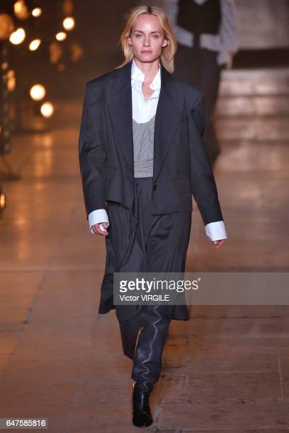 Amber Valletta walks the runway during the Isabel Marant Ready to Wear fasshion show as part of the Paris Fashion Week Womenswear Fall/Winter...