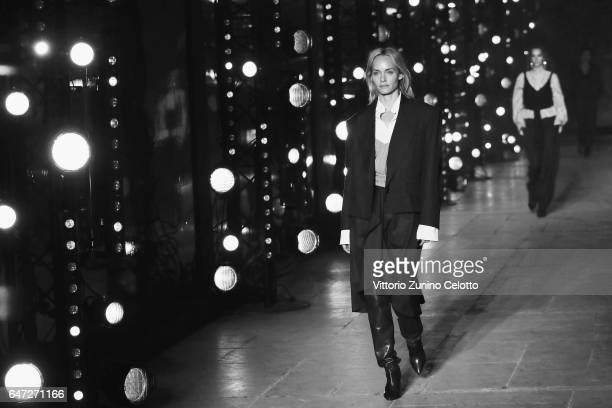 Amber Valletta walks the runway during the Isabel Marant show as part of Paris Fashion Week Womenswear Fall/Winter 2017/2018 on March 2 2017 in Paris...