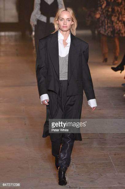 Amber Valletta walks the runway during the Isabel Marant show as part of the Paris Fashion Week Womenswear Fall/Winter 2017/2018 on March 2 2017 in...