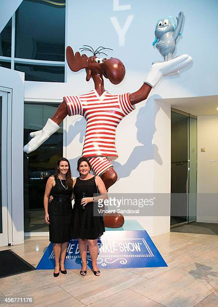 Amber Ward and Tiffany Ward attend the DreamWorks Animation and Twentieth Century Fox Home Entertainment Present The Jay Ward Legacy exhibit at The...
