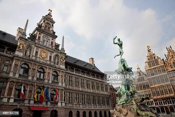 Amberes Grote market, Antwerp, Belgium
