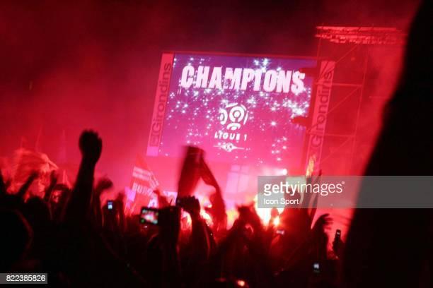Ambiance a la fin du match Caen / Bordeaux 38e journee Ligue 1 Esplanade des Quinconces Bordeaux
