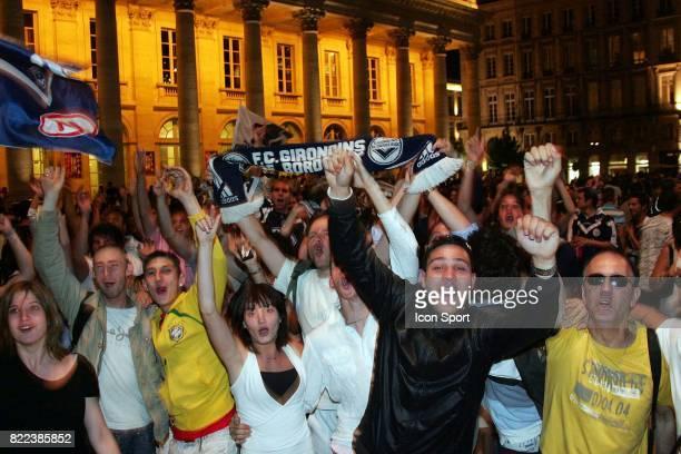 Ambiance a la fin du match Caen / Bordeaux 38e journee Ligue 1 Place de la Comedie Bordeaux
