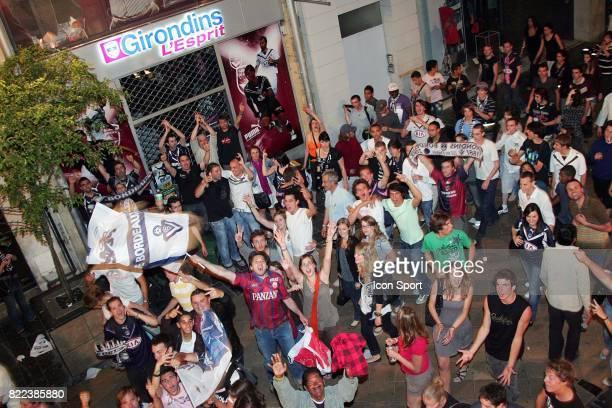 Ambiance a la fin du match Caen / Bordeaux 38e journee Ligue 1 Rue Sainte Catherine Bordeaux