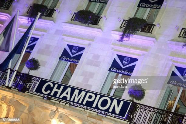 Ambiance a la fin du match Caen / Bordeaux 38e journee Ligue 1 Place de la Comedie Grand Hotel Bordeaux