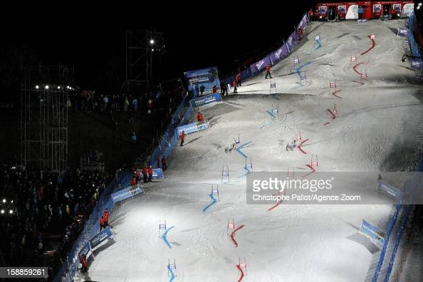 Ambiance during the Audi FIS Alpine Ski World Cup Men's and Women's Parallel Slalom on January 1 2013 in Munich Germany