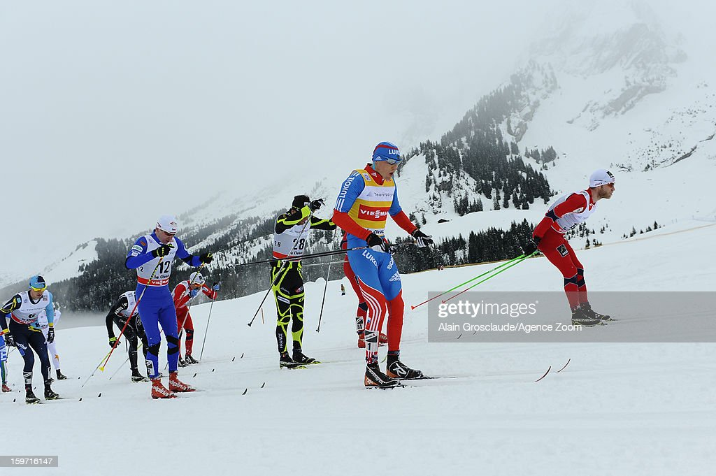 Ambiance during the FIS Cross-Country World Cup Men's Mass Start on January 19, 2013 in La Clusaz, France.